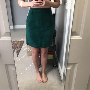 Express Skirts - Express 100% Suede Pencil Skirt